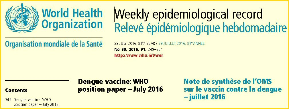 WHO weekly epidemiological record